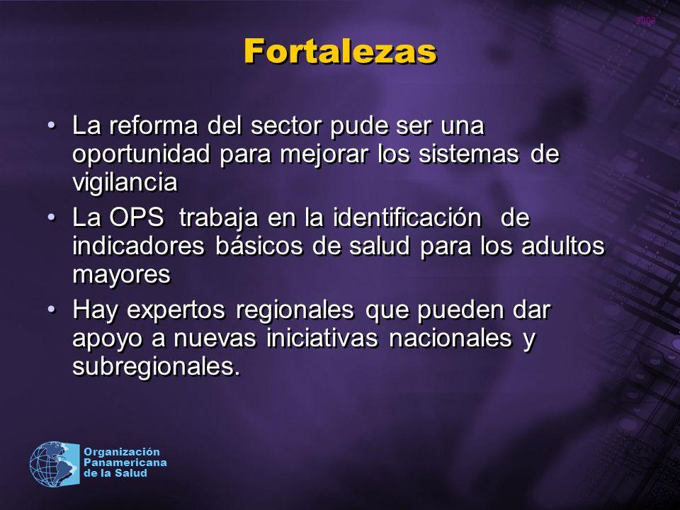Fortalezas La reforma del sector pude ser una oportunidad para mejorar los sistemas de vigilancia.