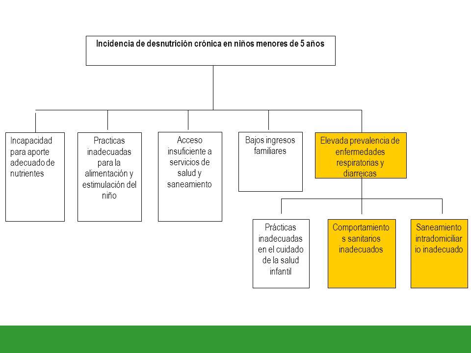 Incidencia de desnutrición crónica en niños menores de 5 años