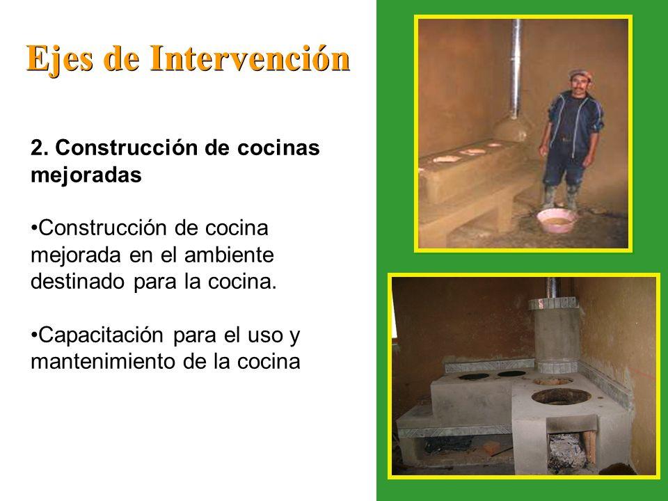 Ejes de Intervención 2. Construcción de cocinas mejoradas
