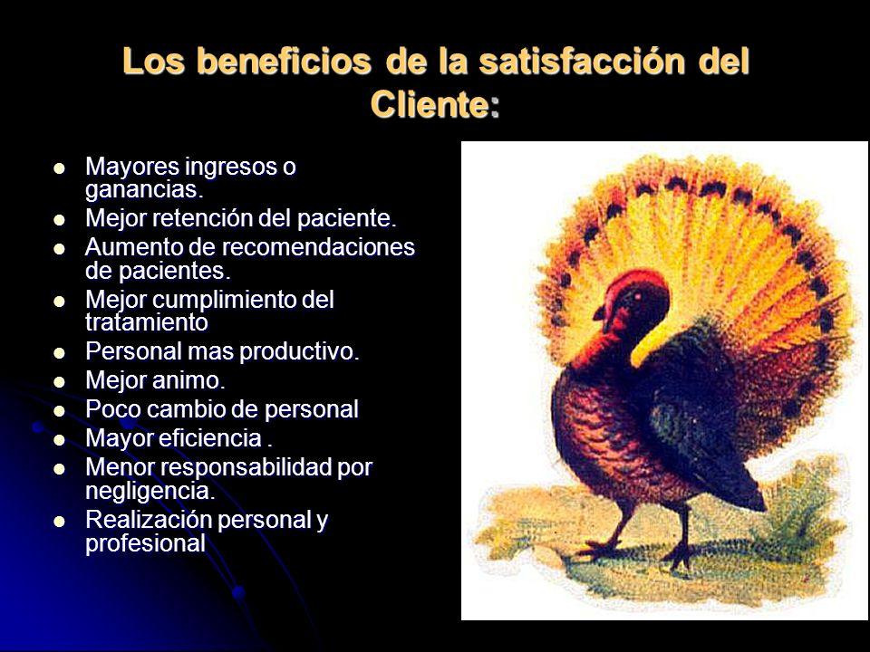 Los beneficios de la satisfacción del Cliente: