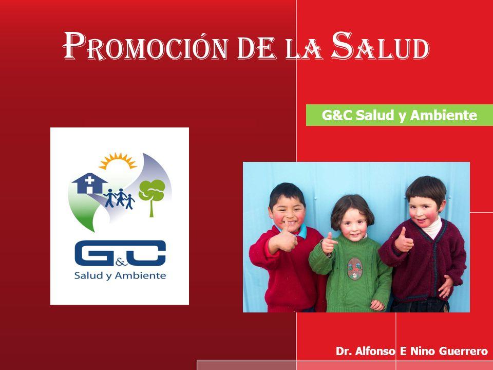 Promoción de la Salud G&C Salud y Ambiente Dr. Alfonso E Nino Guerrero