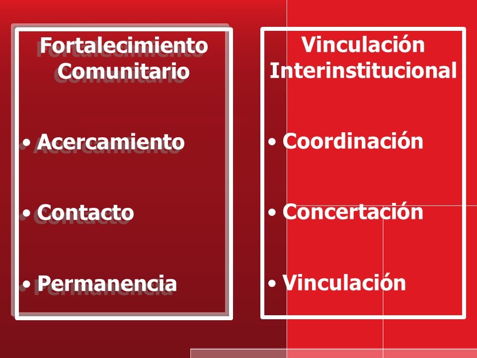 Fortalecimiento Comunitario Vinculación Interinstitucional