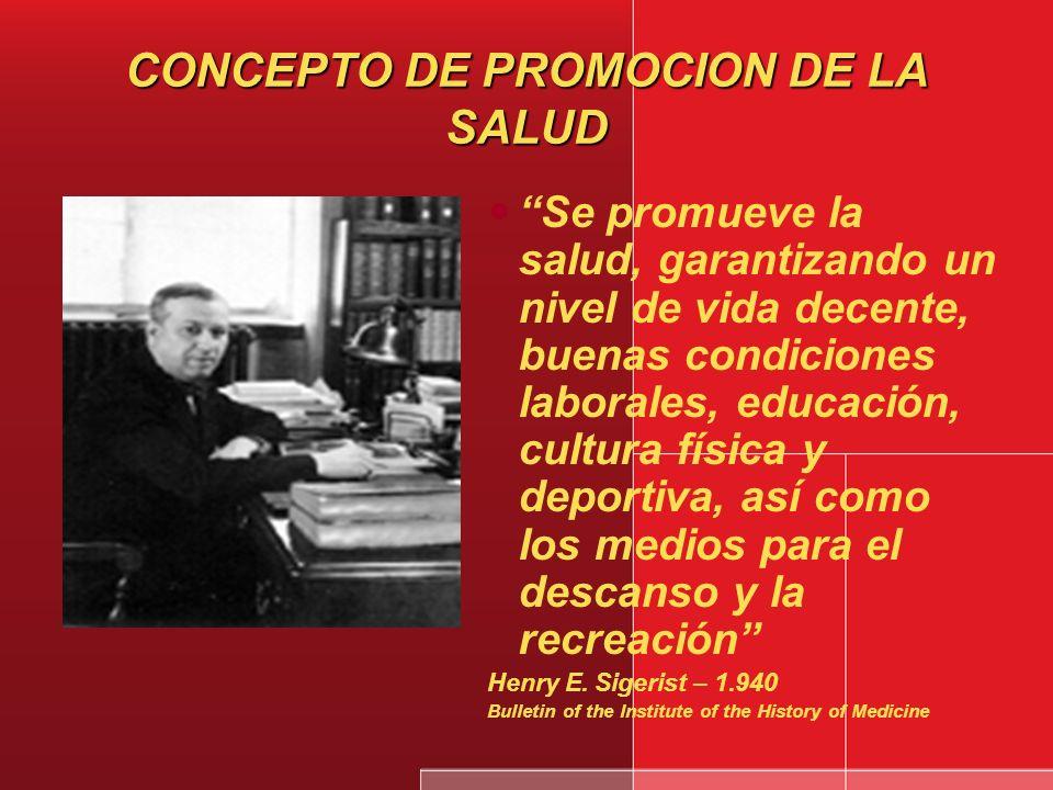 CONCEPTO DE PROMOCION DE LA SALUD