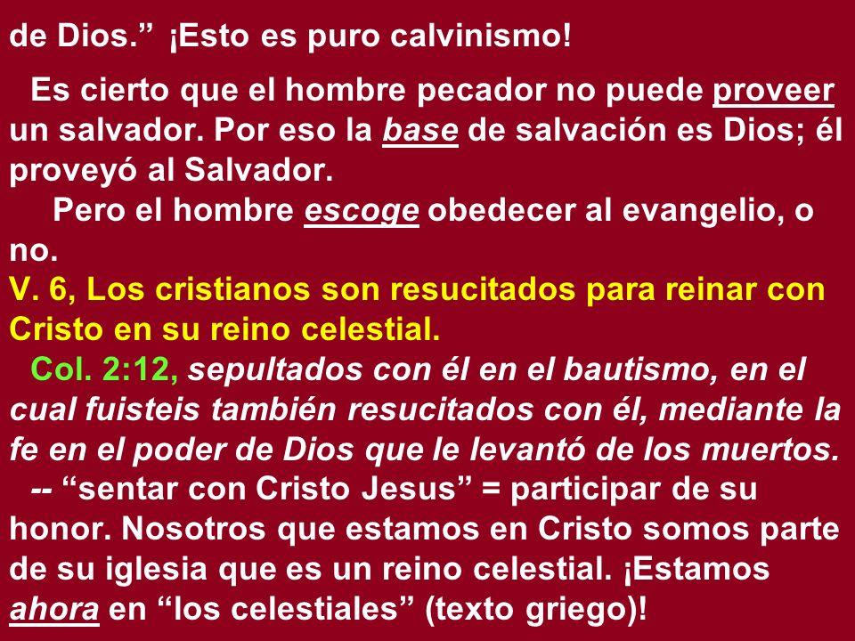 de Dios. ¡Esto es puro calvinismo!