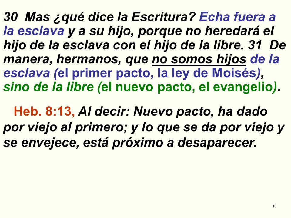 30 Mas ¿qué dice la Escritura