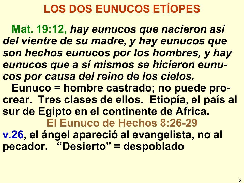 LOS DOS EUNUCOS ETÍOPES