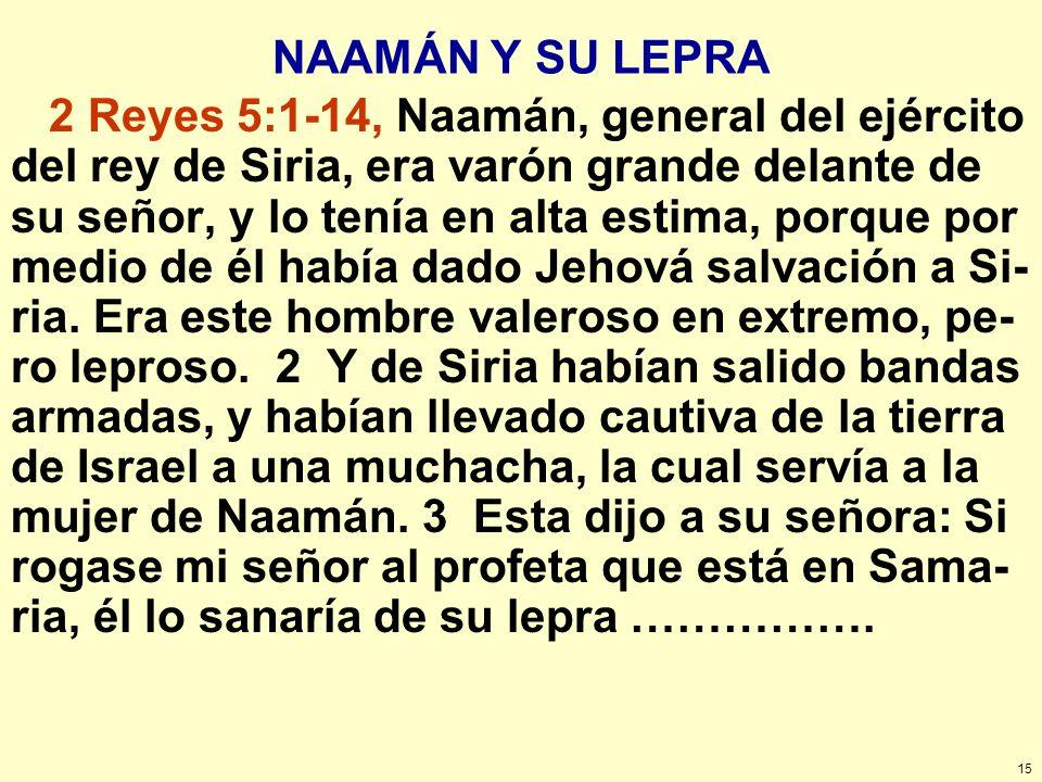 NAAMÁN Y SU LEPRA