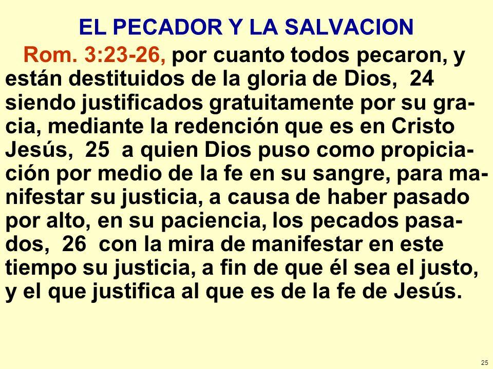 EL PECADOR Y LA SALVACION