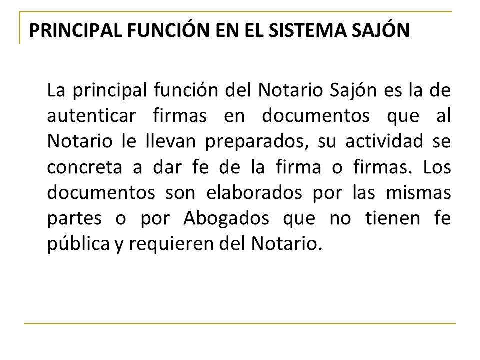 PRINCIPAL FUNCIÓN EN EL SISTEMA SAJÓN