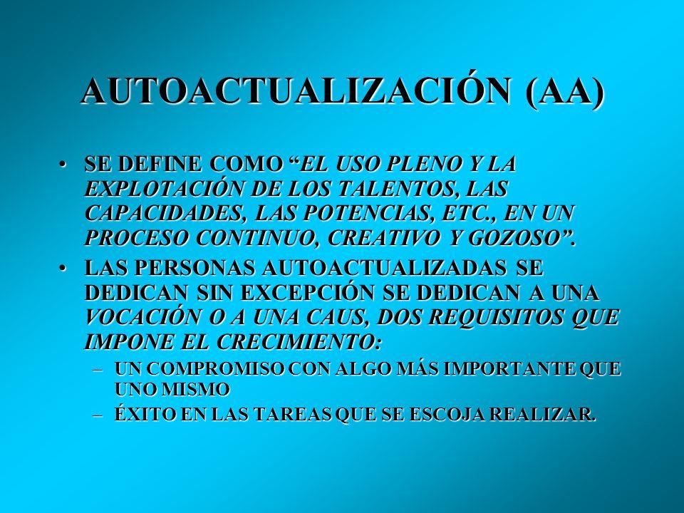 AUTOACTUALIZACIÓN (AA)