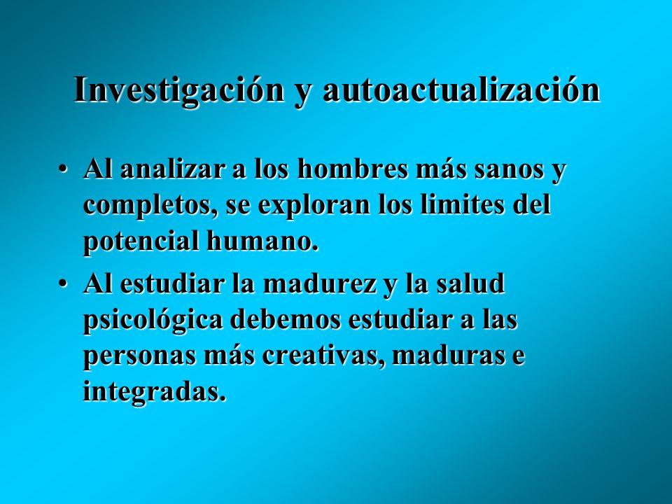 Investigación y autoactualización