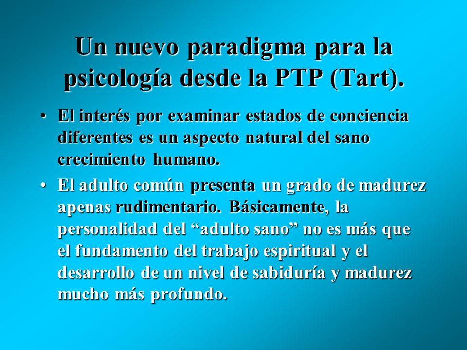 Un nuevo paradigma para la psicología desde la PTP (Tart).