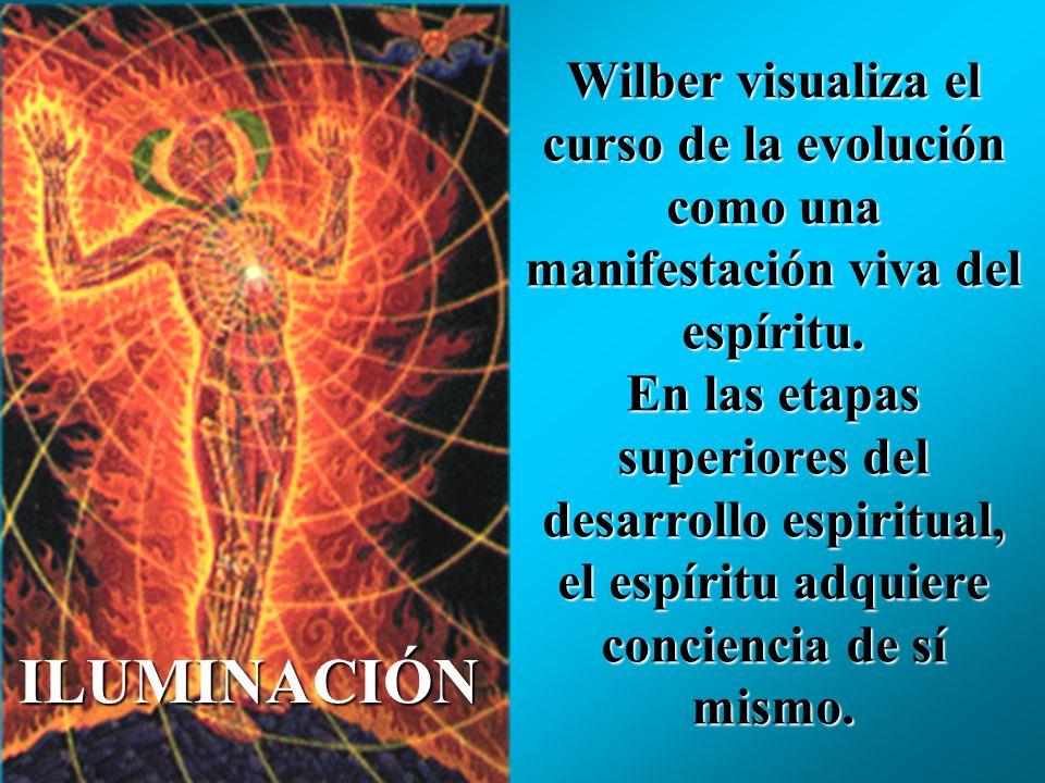Wilber visualiza el curso de la evolución como una manifestación viva del espíritu. En las etapas superiores del desarrollo espiritual, el espíritu adquiere conciencia de sí mismo.