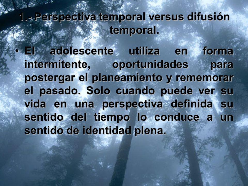 1.- Perspectiva temporal versus difusión temporal.