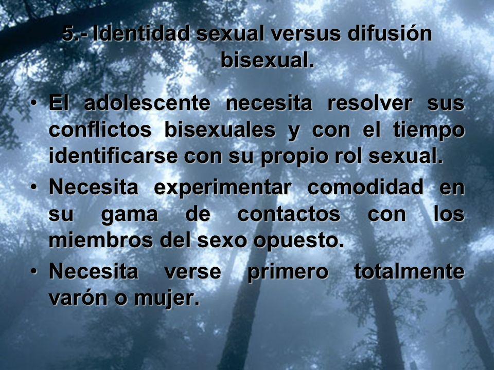 5.- Identidad sexual versus difusión bisexual.