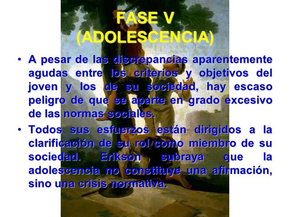 FASE V (ADOLESCENCIA)