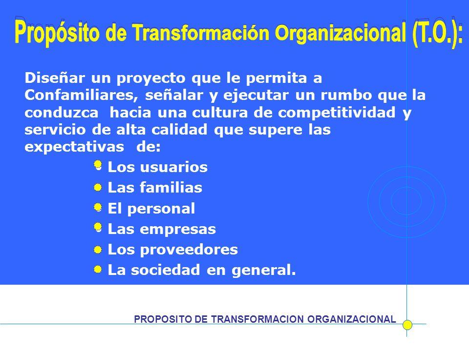 Propósito de Transformación Organizacional (T.O.):