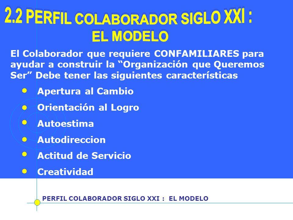 2.2 PERFIL COLABORADOR SIGLO XXI : 2.2 PERFIL COLABORADOR SIGLO XXI :