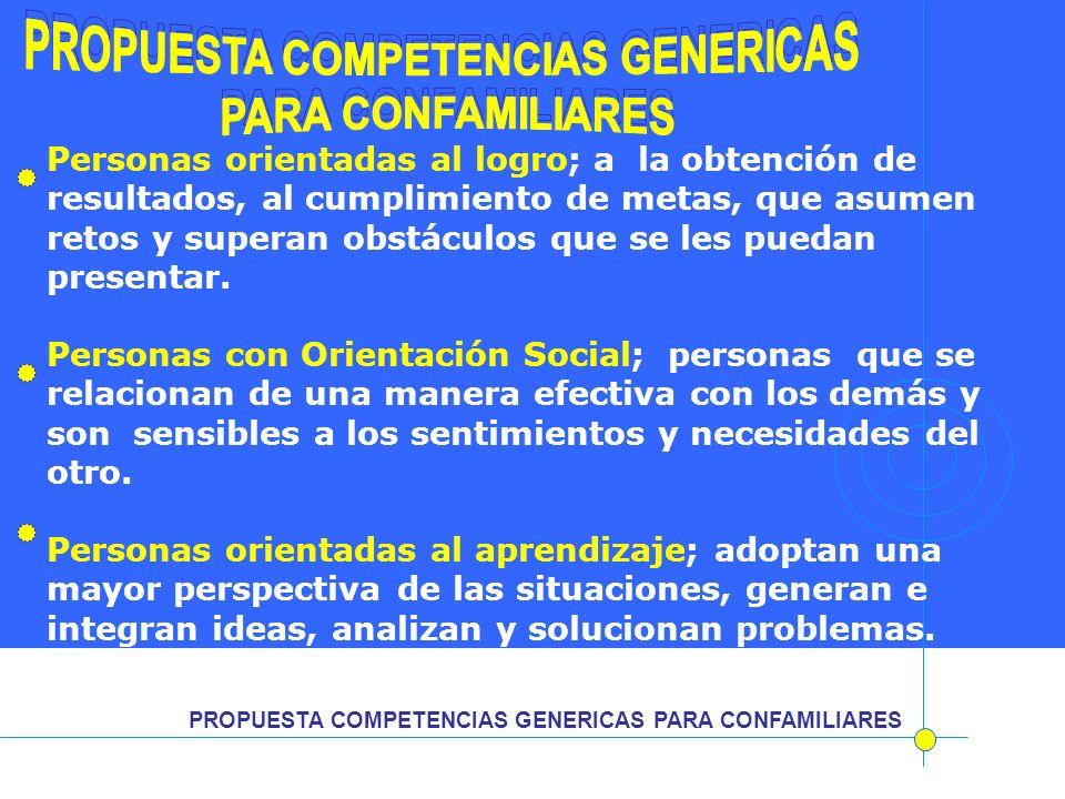 PROPUESTA COMPETENCIAS GENERICAS PROPUESTA COMPETENCIAS GENERICAS