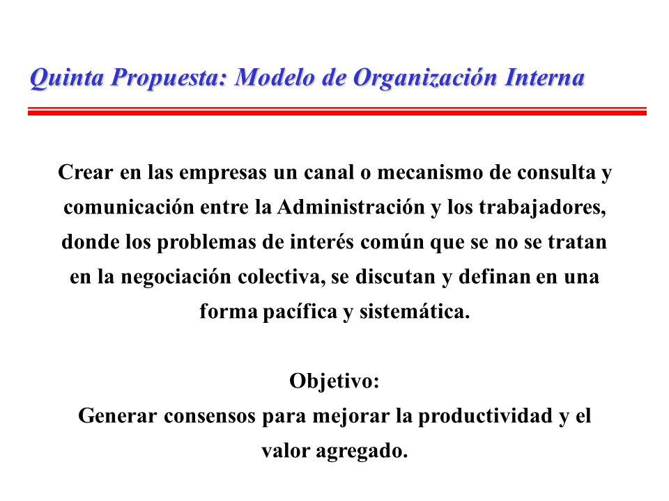 Generar consensos para mejorar la productividad y el valor agregado.