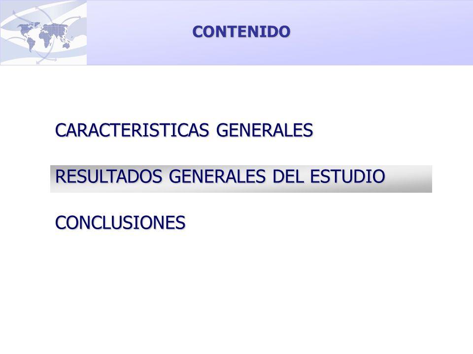 CARACTERISTICAS GENERALES RESULTADOS GENERALES DEL ESTUDIO