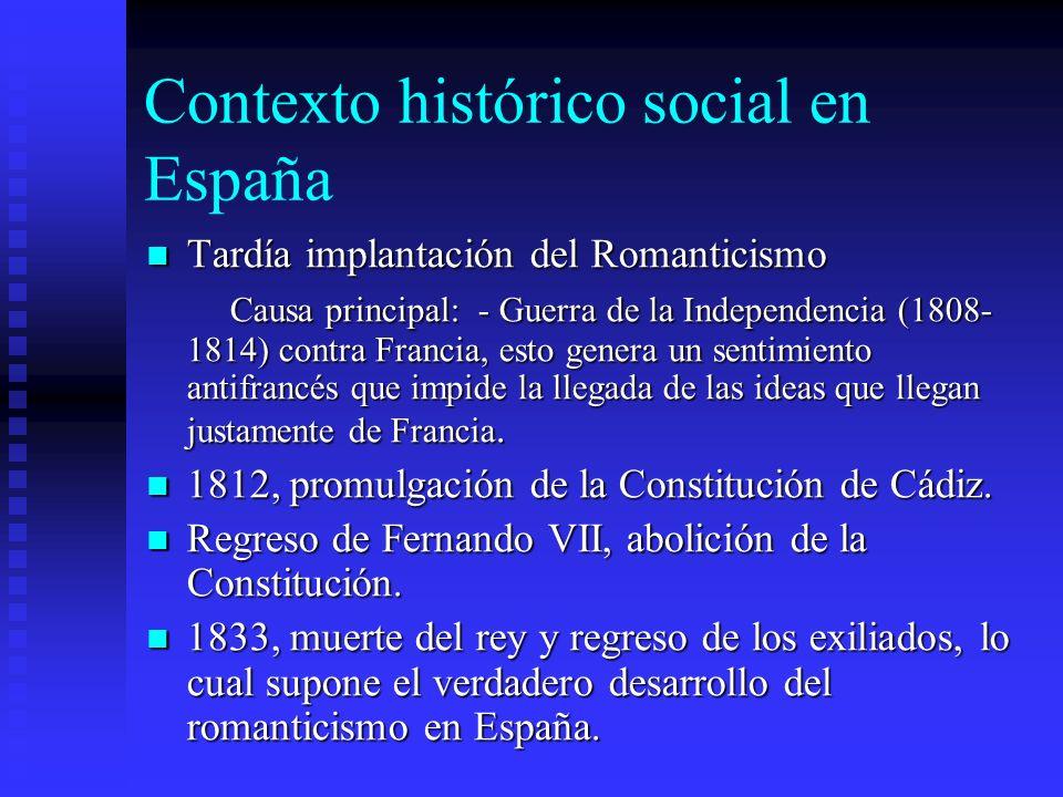 Contexto histórico social en España