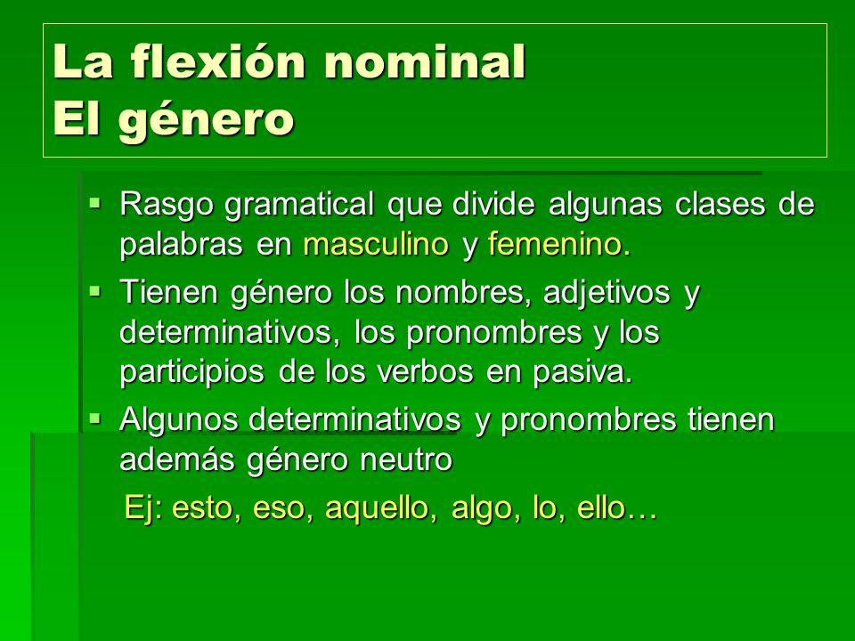 La flexión nominal El género