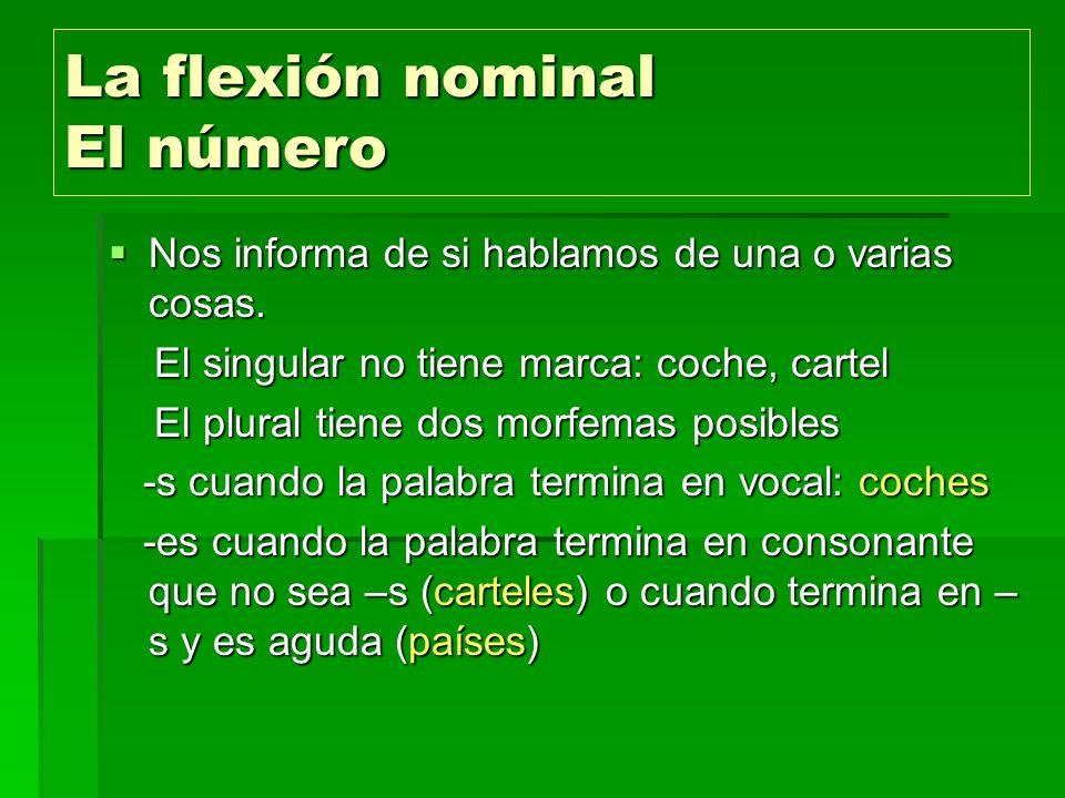 La flexión nominal El número
