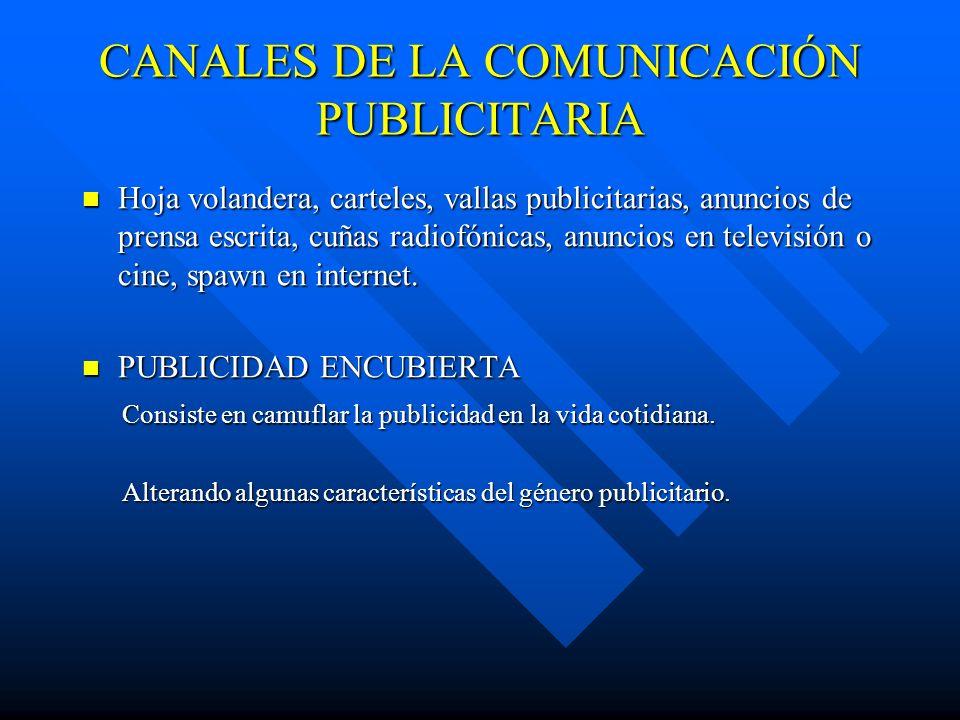 CANALES DE LA COMUNICACIÓN PUBLICITARIA
