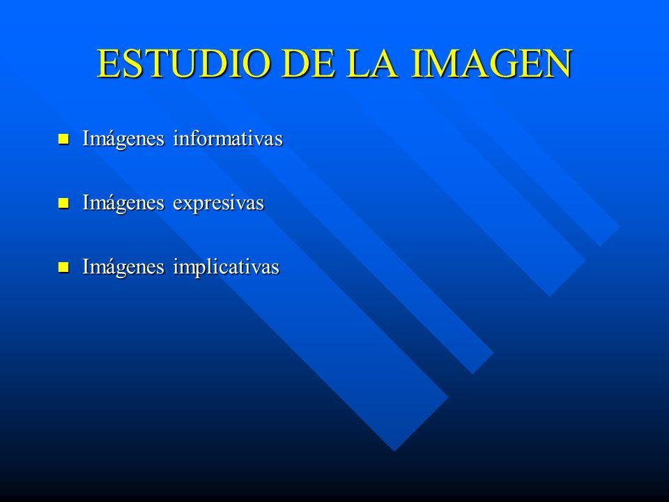 ESTUDIO DE LA IMAGEN Imágenes informativas Imágenes expresivas