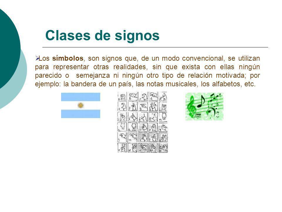 Clases de signos