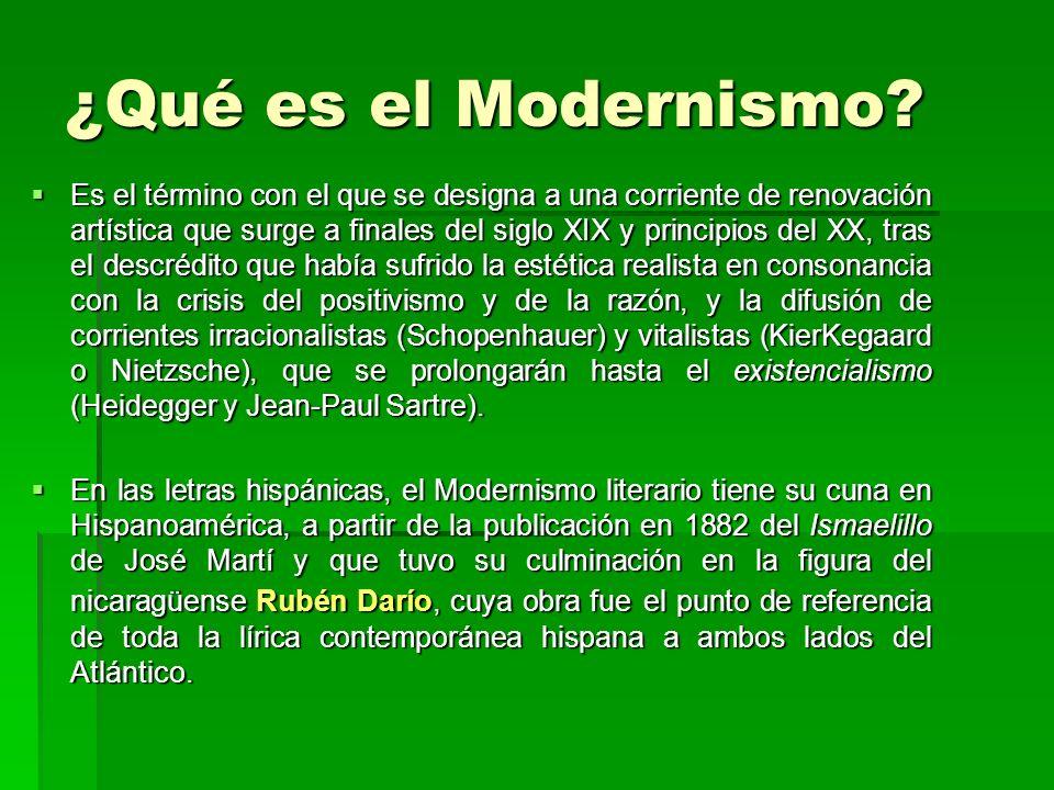 ¿Qué es el Modernismo