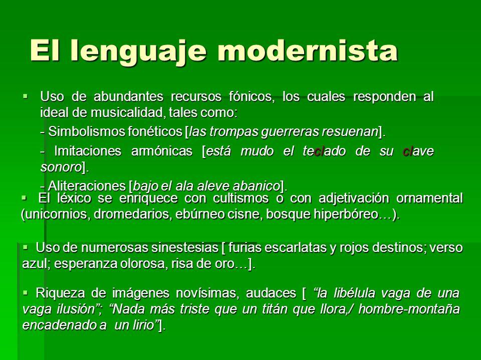El lenguaje modernista