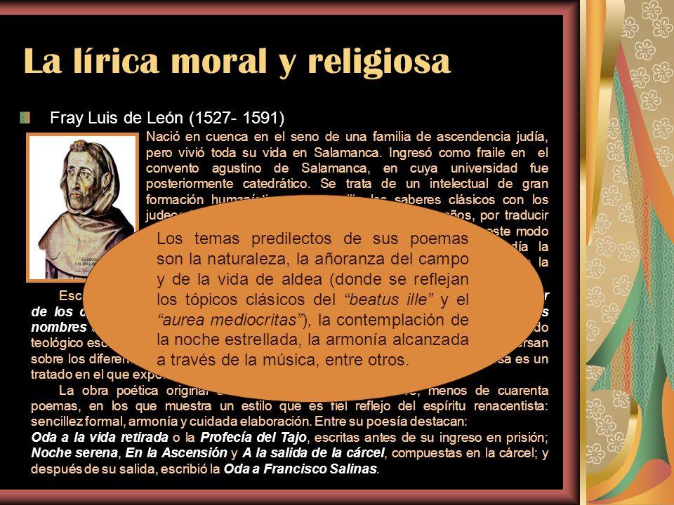 La lírica moral y religiosa