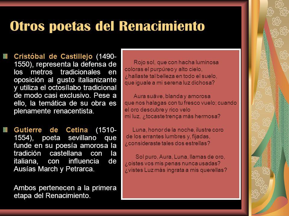 Otros poetas del Renacimiento