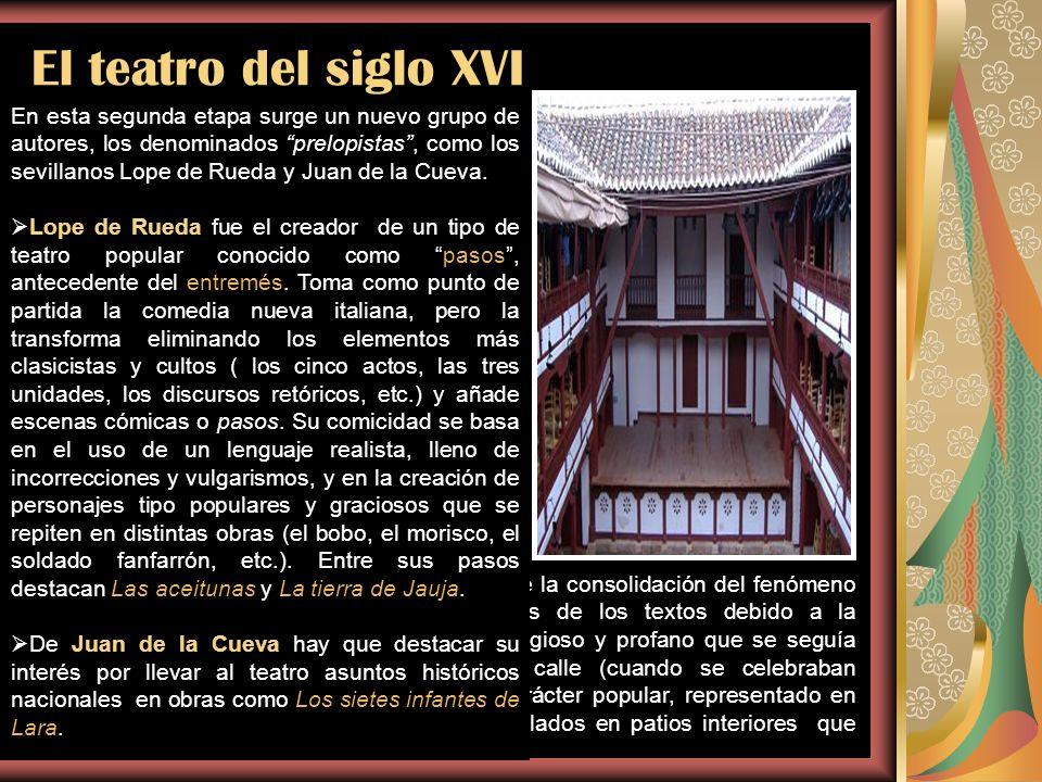 El teatro del siglo XVI