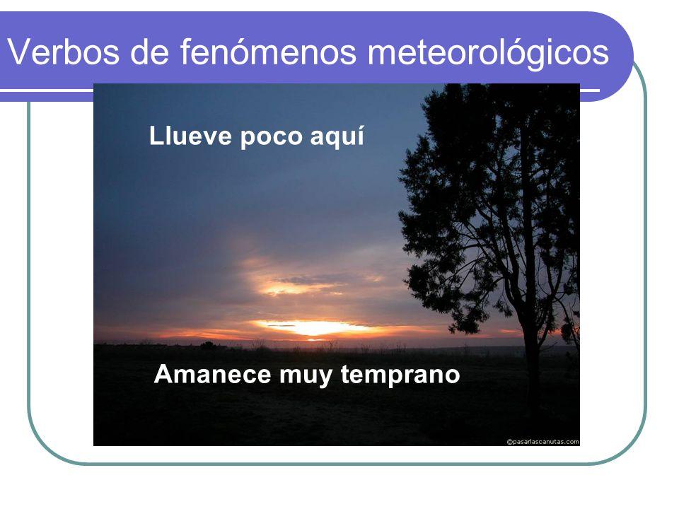Verbos de fenómenos meteorológicos