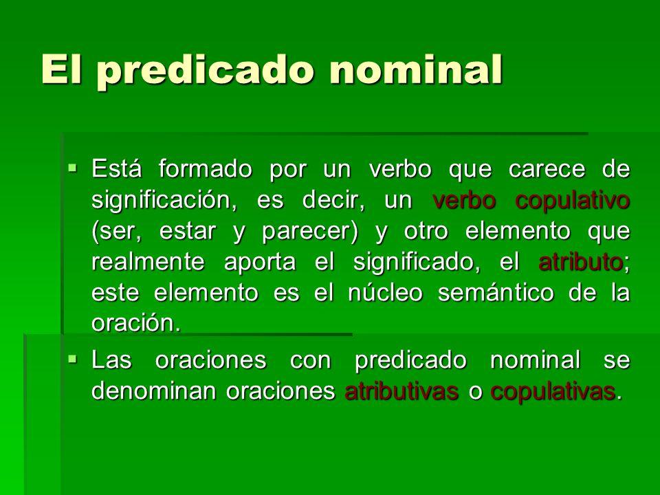 El predicado nominal