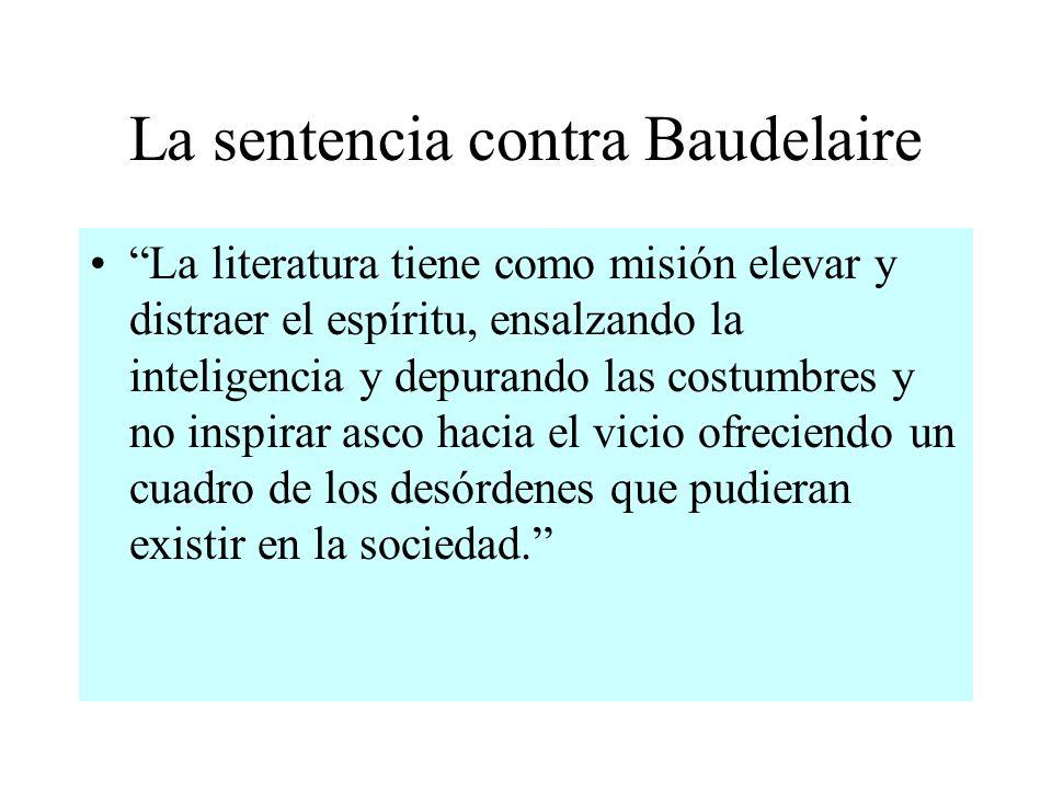 La sentencia contra Baudelaire
