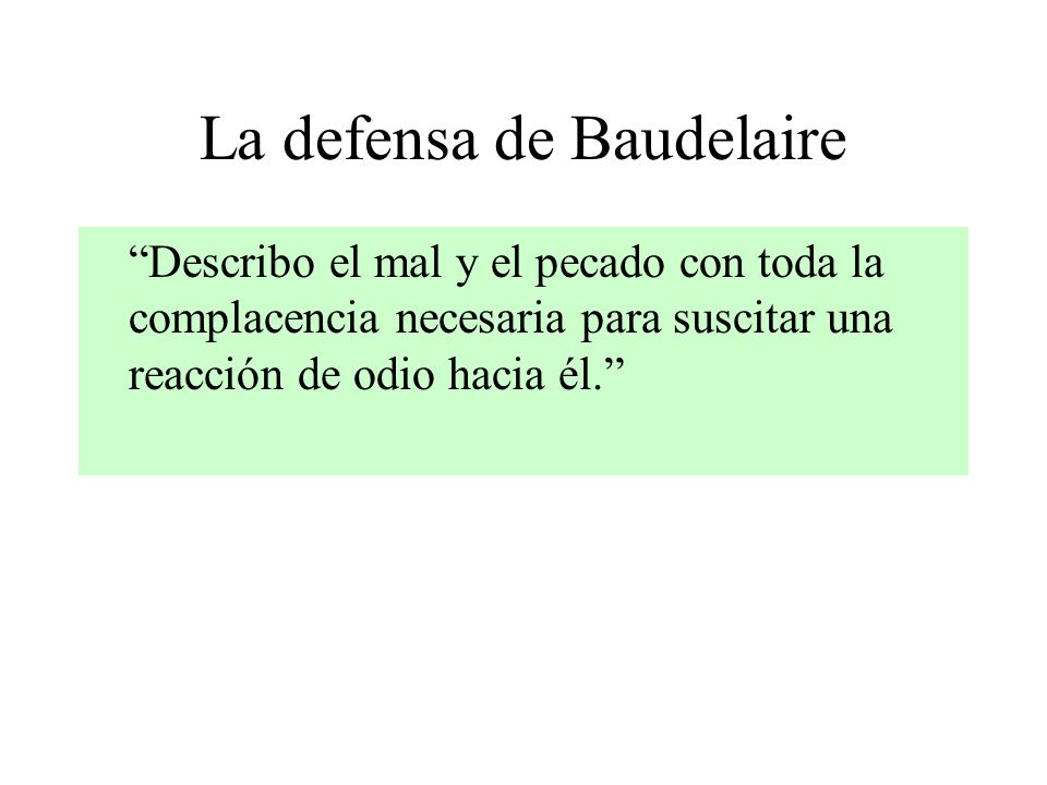 La defensa de Baudelaire
