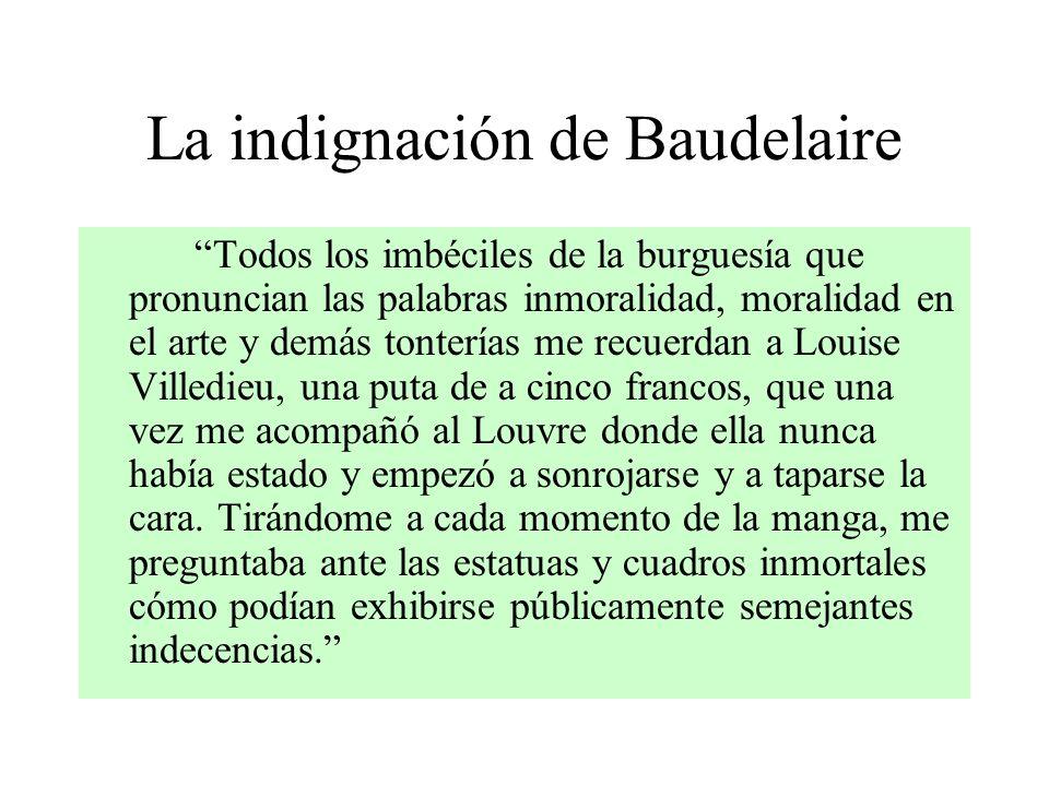 La indignación de Baudelaire