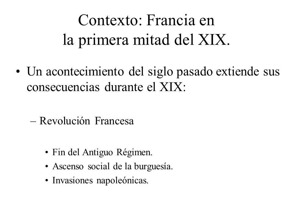 Contexto: Francia en la primera mitad del XIX.