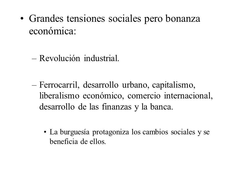 Grandes tensiones sociales pero bonanza económica:
