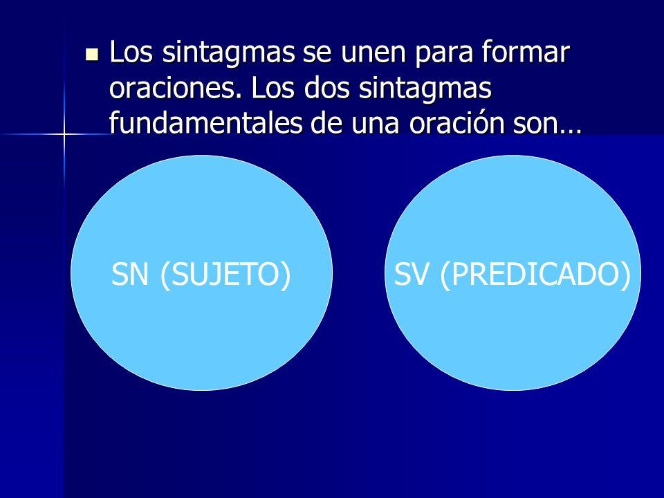 SN (SUJETO) SV (PREDICADO)
