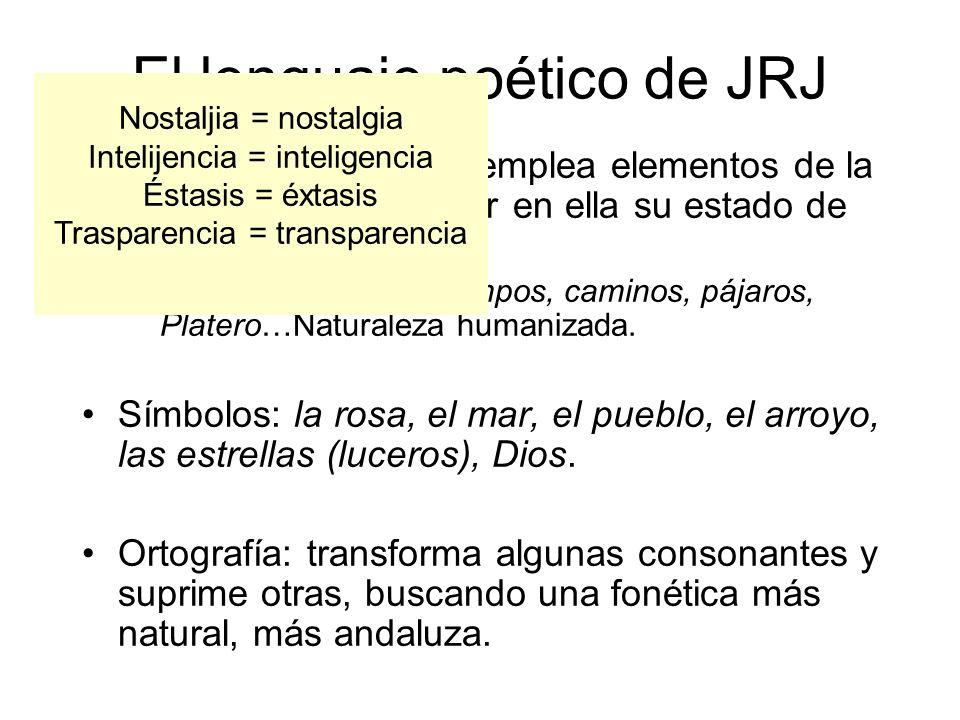 El lenguaje poético de JRJ