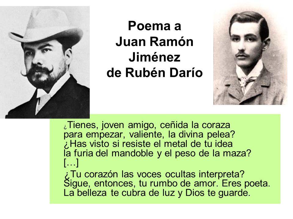 Poema a Juan Ramón Jiménez de Rubén Darío