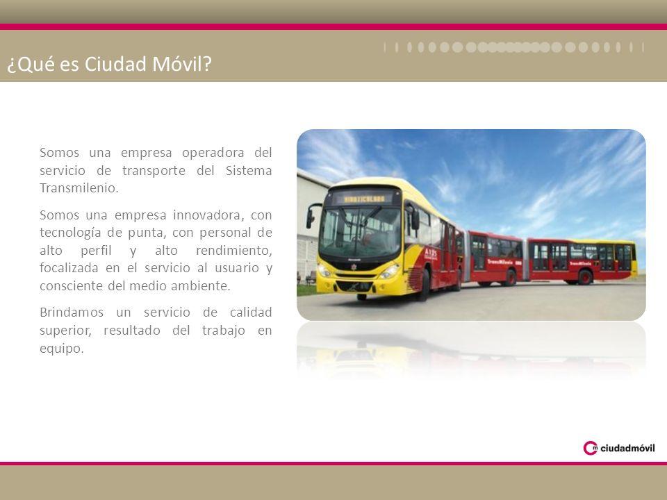 ¿Qué es Ciudad Móvil Somos una empresa operadora del servicio de transporte del Sistema Transmilenio.