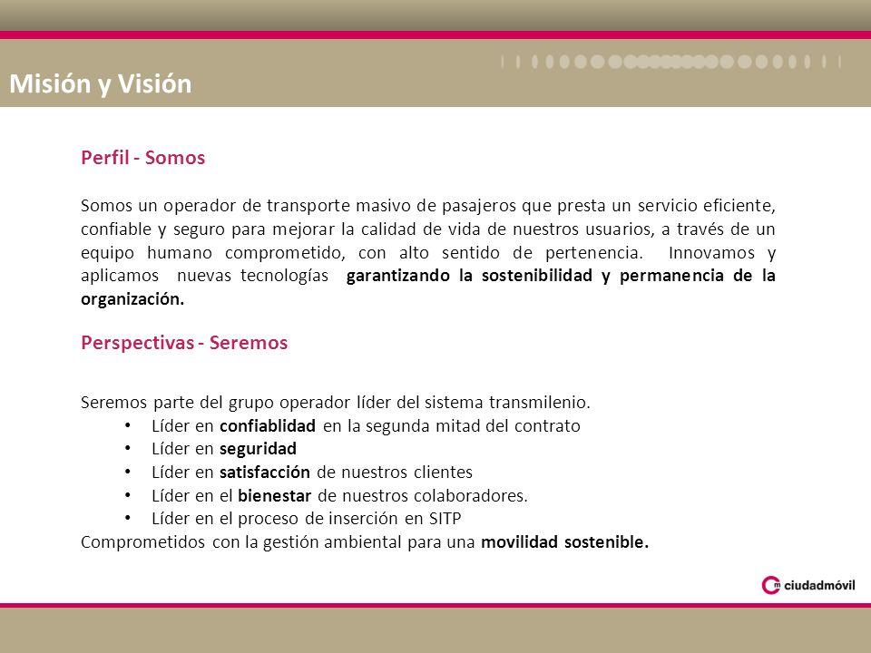 Misión y Visión Perfil - Somos Perspectivas - Seremos