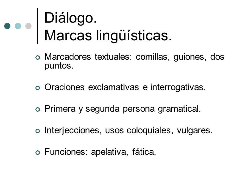 Diálogo. Marcas lingüísticas.