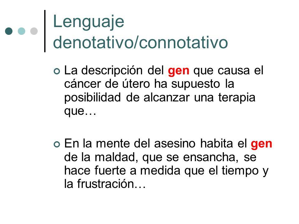 Lenguaje denotativo/connotativo